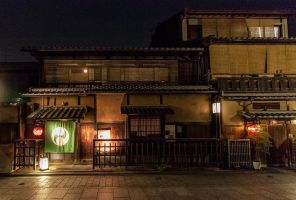 Gion tea house at night by TarJakArt
