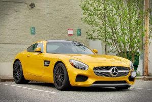 Golden AMG GTS by SeanTheCarSpotter
