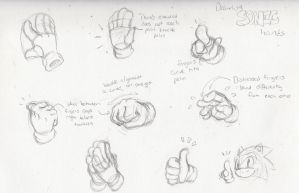 Drawing SONIC Hands by TheUpbringer