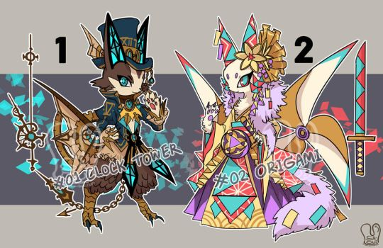 [Adoptable] Auction 01-02 [CLOSED] by Sa-Dui