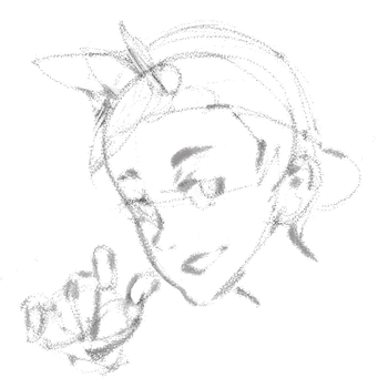 Playing around with Steve Ahn's sketch brush... by jesuisnate