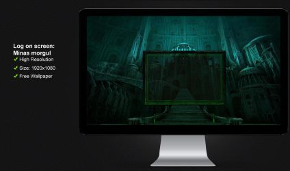 Log on screen Minas Morgul -The Lord of The Rings by poweredbyostx