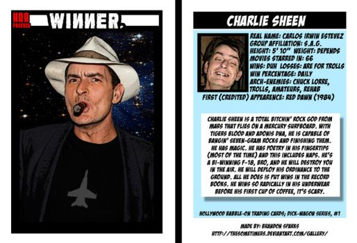 Charlie Sheen Trading Card by thesometimers