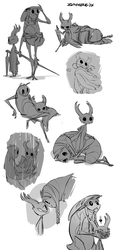 Hollow Knight Sketches #3 by Zummeng