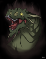 Green Dragon Head by Blazbaros