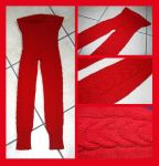Red cable leggings by KnitLizzy
