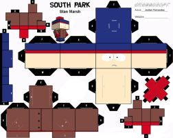 South Park Stan Cubee Template by jordof131