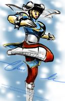 Street Fighter IV Chun Li by slifertheskydragon