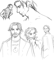 Angeal and Hollander Sketches by evaunits