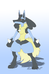 Fluffy Lucario by The-Ravens-Of-Moraea
