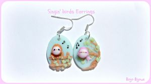 Singin' birds earrrings by Bojo-Bijoux