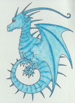 Birthday dragon for a card by Scellanis