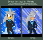 Draw Again Meme: Silver Tux by edo67