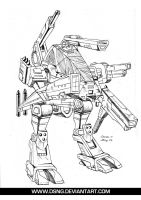 JACKHAMMER MECH - Pencils by DSNG