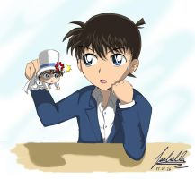 Shinichi and Kid by isabella1992