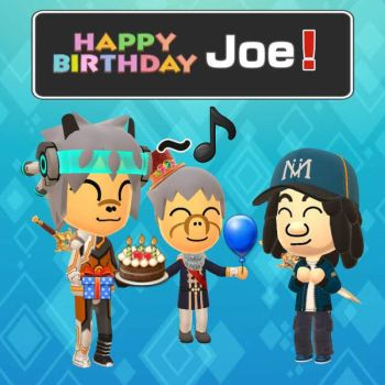 Happy Birthday Joe! by GoldRaibowMario2