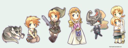 Zelda: Twilight Chibi by Zaphk