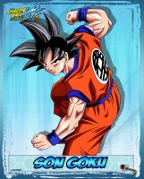 DBKai card #1 Son Goku by Bejitsu