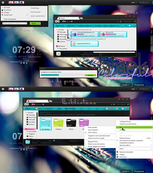 Black Colorfull theme for Windows 7 by MarNelyDesigns
