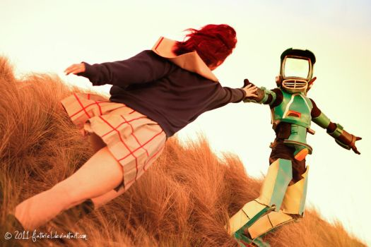FLCL - Mamimi and Canti by fiathriel