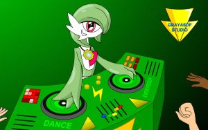 DJ Gardevoir Has A Party Tonight (animated) by Imaflashdemon