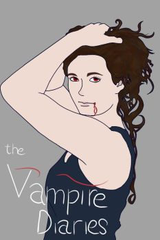 ::Gift:: Vampire Diaries Fan Poster by 0--Blank--0