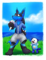 Optimistic Lucario (commission) by bugbyte