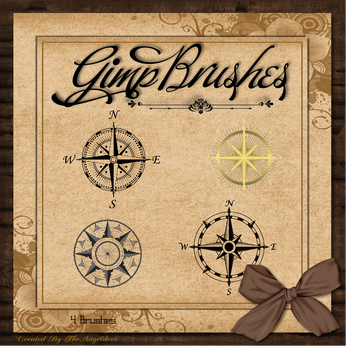 GIMP Brushes | Compass Rose Brushes by TheAngeldove
