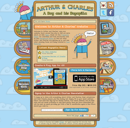 Arthur And Charles Website by moopf