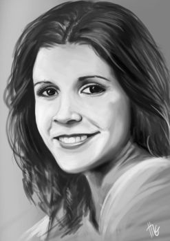 Carrie Fisher Portrait by FeiHai
