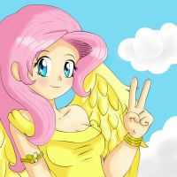 Fluttershy Human by EduarkNes
