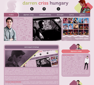 Darren Criss Layout by Nikrecia