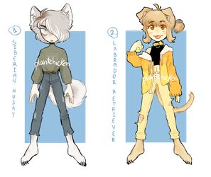 AUCTION- Good boys adoptables  [CLOSED] by plantskid