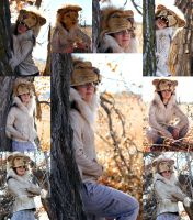 African Lion Hoodie Collage by Zhon