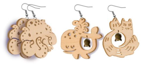 Wooden Charms for 2014 by mystcloud