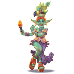 Goblin a'la Carmen Miranda for FG Card Game by thedarkcloak