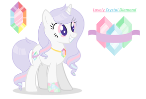 My OC: Lovely Crystal Diamond by StarDarkMLP