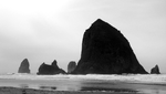 Cannon Beach BW II by adderx99