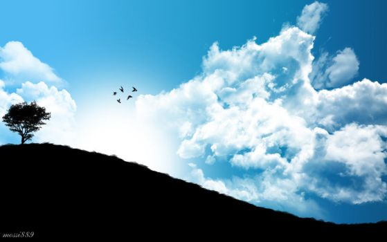Cloudy flight by mossi889