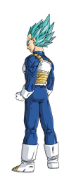 Vegeta Super Saiyan Blue espaldas by BardockSonic