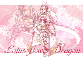 [CLOSED] Lotus flower Dragon by Oma-Chi