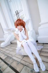 Cardcaptor Sakura - Wedding Kinomoto Sakura by Xeno-Photography