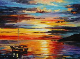 At Anchor by Leonid Afremov by Leonidafremov