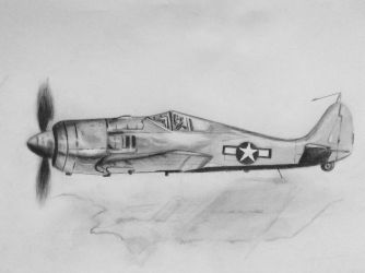 Practice drawing WWII plane by KarinClaessonArt