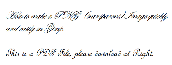 How to make a PNG Quickly and Easily in GIMP by RMS-OLYMPIC