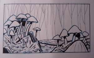 Forest floor sketch by tedbergeron