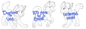 Chibi canine lines set 5 by High-Yote