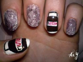 Nutella Nail Design by AnyRainbow