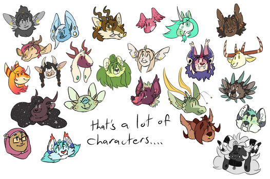 Characters by neoscottie