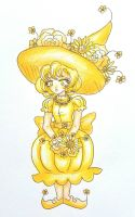 Yellow Flower Witch by starbuxx